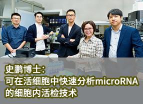 史鹏博士:可在活细胞中快速分析microRNA的细胞内活检技术